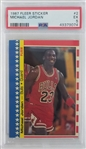 Michael Jordan Chicago Bulls 1987 Fleer Sticker Basketball Card #2 - Graded EX 5 (PSA)