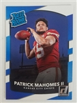 Patrick Mahomes II Kansas City Chiefs 2017 Panini Donruss Rookie Football Card #327