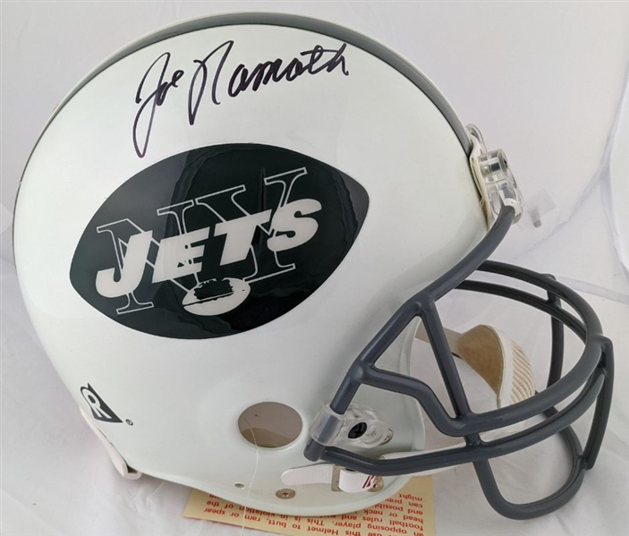 Joe Namath Signed Full Size Authentic Proline New York Jets VSR-4 Helmet (Steiner COA)