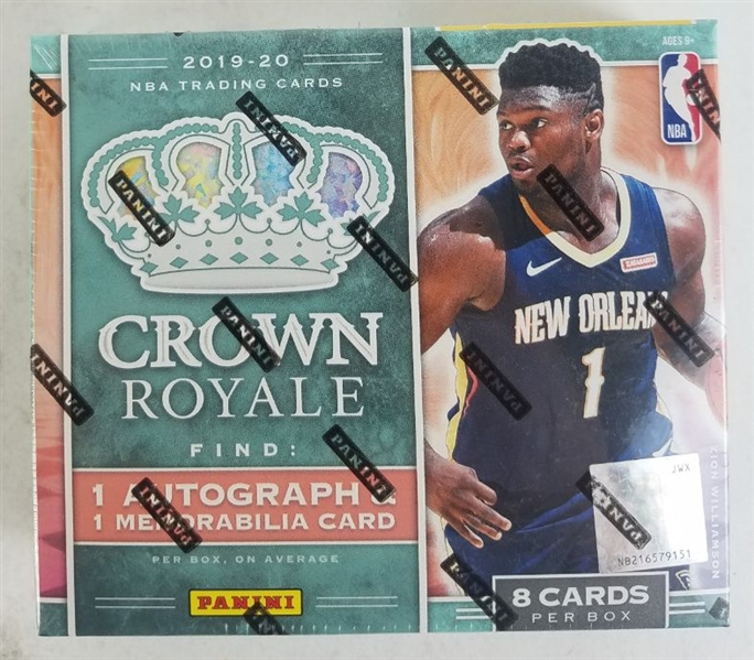 Sealed 2019-20 Crown Royale Hobby Box - Possible Zion Williamson & Ja Morant Rookies!