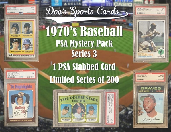 1970s PSA Graded Baseball Card Mystery Pack Series 3