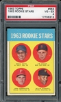 Willie Stargell 1963 Topps Rookie Stars Rookie Baseball Card #553 - Graded VG-EX 4 (PSA)