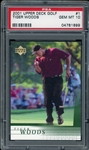 Tiger Woods 2001 Upper Deck Golf Rookie Golf Card #1 - Graded Gem Mint 10! (PSA)