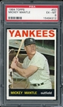 Mickey Mantle 1964 Topps Baseball Card #50 - Graded EX-MT 6 (PSA)