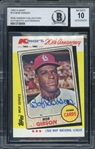 Bob Gibson Signed 1982 Topps K-Mart 20th Anniversary Baseball Card #14 (BAS Encapsulated) - Auto Graded 10!