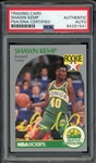 Shawn Kemp Signed 1990 Hoops Rookie Baseball Card #279 (PSA/DNA Encapsulated)