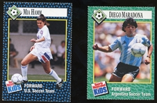 Lot of (2) Sports Illustrated For Kids Soccer Cards - Mia Hamm and Diego Maradona
