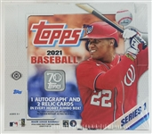 Sealed 2021 Topps Series 1 Baseball Card Jumbo Hobby Box - Possible Jo Adell and Dylan Carlson Rookies!