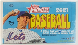 Sealed 2021 Topps Heritage Baseball Card Hobby Box - Possible Jo Adell and Dylan Carlson Rookies!