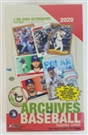 Sealed 2020 Topps Archives Baseball Card Hobby Box - Possible Luis Robert and Bo Bichette Rookies!