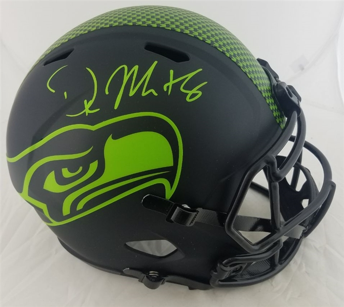 D.K. Metcalf Signed Full Size Replica Seattle Seahawks Eclipse Alternate Helmet (Beckett Witness COA)