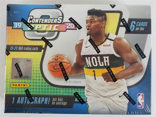 Sealed 2019-20 Panini Contenders Optic Basketball Card Hobby Box - Possible Zion Williamson and Ja Morant Rookies!