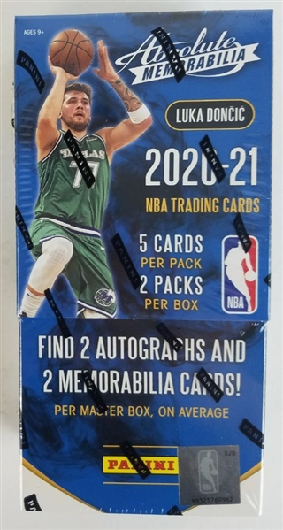Sealed 2020-21 Absolute Memorabilia Basketball Card Hobby Box- Possible LaMelo Ball Rookies!