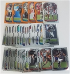 Lot of (35) 2020 Panini Prizm Football Cards w/(7) Prizms & (7) Rookie Cards