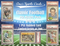 Classic Football PSA Graded Football Card Mystery Pack